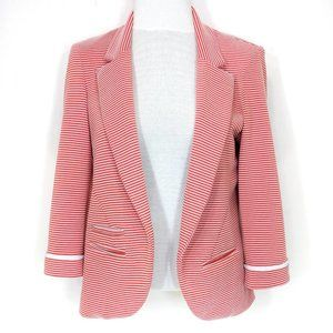 Willow & Clay Textured Striped 3/4 Sleeve Blazer